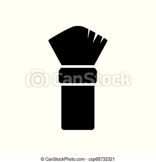 Un icono de cepillo de afeitar - csp68732321