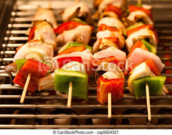 Shashlik brochettes pour barbecue brochettes ou Broche