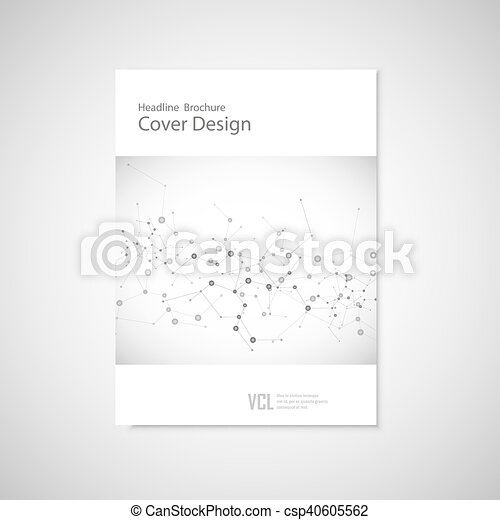 Brochure cover template for connect, network, healthcare, science and technology - csp40605562