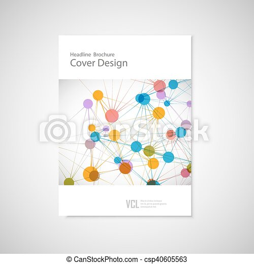 Brochure cover template for connect, network, healthcare, science and technology - csp40605563