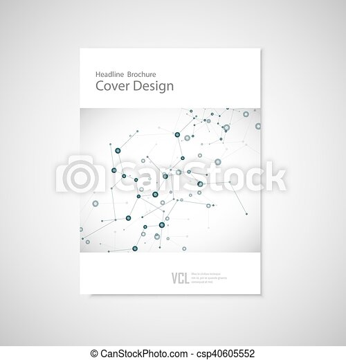 Brochure cover template for connect, network, healthcare, science and technology - csp40605552