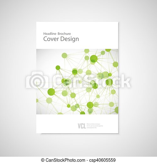 Brochure cover template for connect, network, healthcare, science and technology - csp40605559