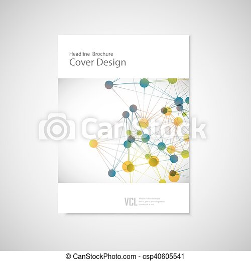 Brochure cover template for connect, network, healthcare, science and technology - csp40605541