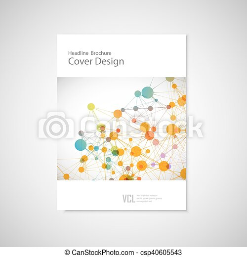 Brochure cover template for connect, network, healthcare, science and technology - csp40605543