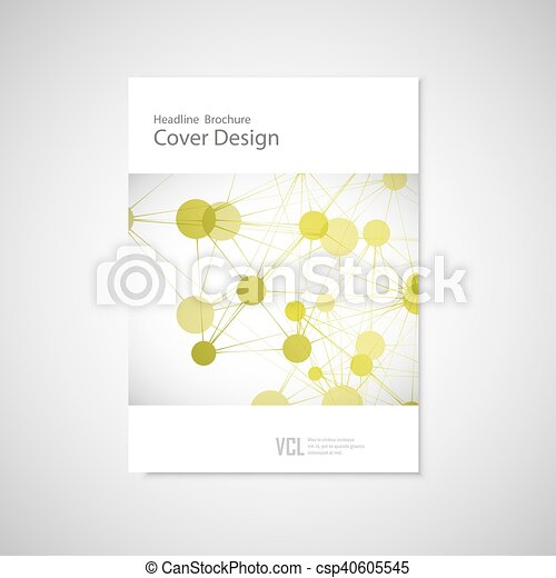 Brochure cover template for connect, network, healthcare, science and technology - csp40605545