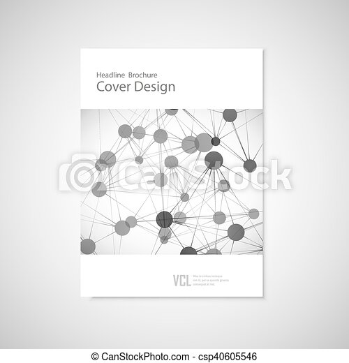 Brochure cover template for connect, network, healthcare, science and technology - csp40605546