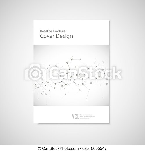 Brochure cover template for connect, network, healthcare, science and technology - csp40605547