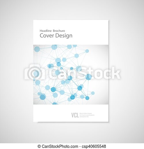 Brochure cover template for connect, network, healthcare, science and technology - csp40605548