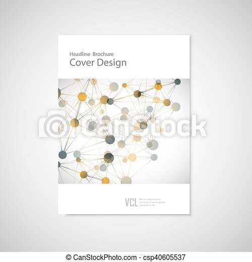 Brochure cover template for connect, network, healthcare, science and technology - csp40605537