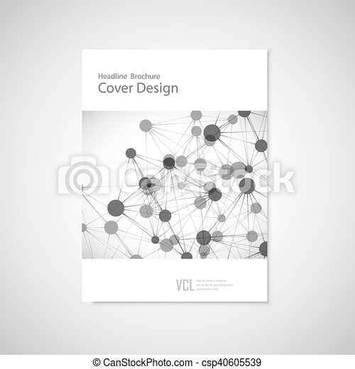 Brochure cover template for connect, network, healthcare, science and technology - csp40605539