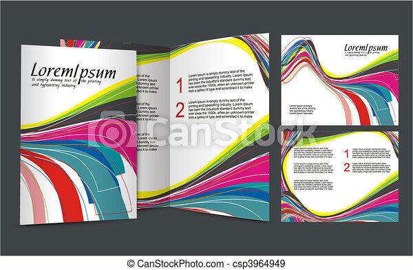 brochure design - csp3964949