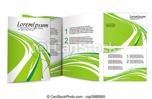 brochure design - csp3988569