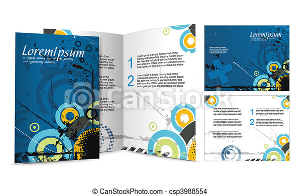 brochure design - csp3988554