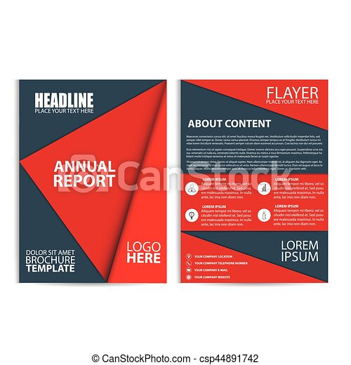 brochure design flyer template size a4 vector illustration