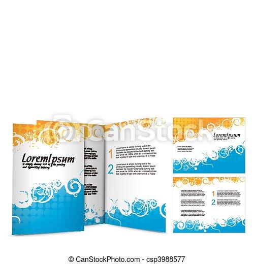 brochure design - csp3988577