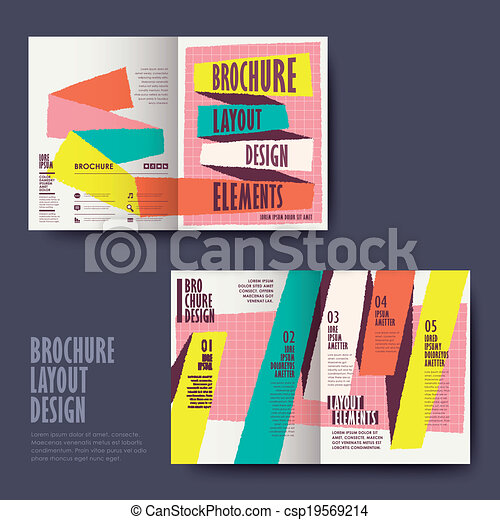 Vector Template Of Brochure Design With Hand Drawn Style