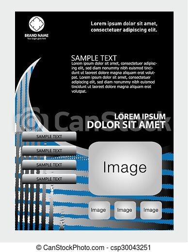 Brochure flyer background - csp30043251