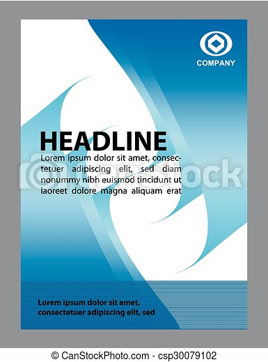 Brochure flyer background - csp30079102