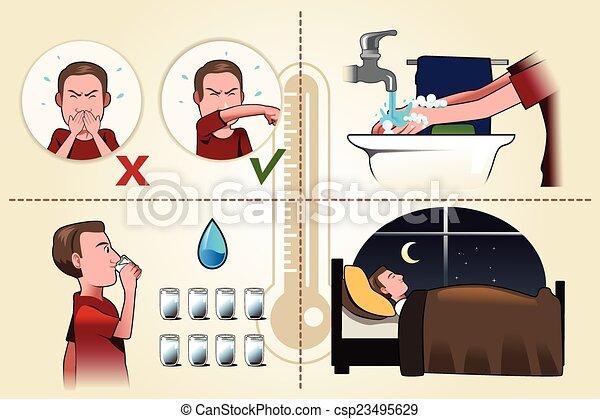 brochure, grippe - csp23495629