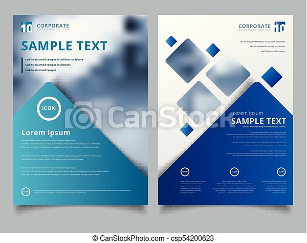 Brochure layout design template, annual report, leaflet, advertising