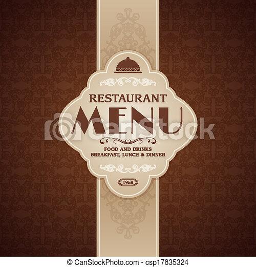 brochure, menu, café, gabarit, restaurant - csp17835324