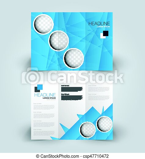 Brochure Mock Up Design Template TriFold Brochure Mock Up