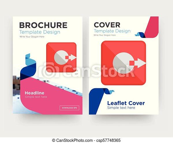 brochure, rendement, aviateur, conception, gabarit - csp57748365