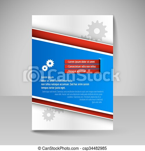 Brochure template. editable a4 poster for design, presentation ...