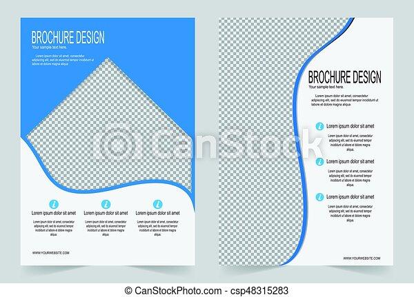 Brochure template, Flyer design blue template - csp48315283