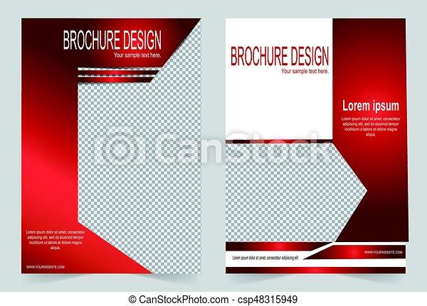 Brochure Template Flyer Design Red Template Brochure Template