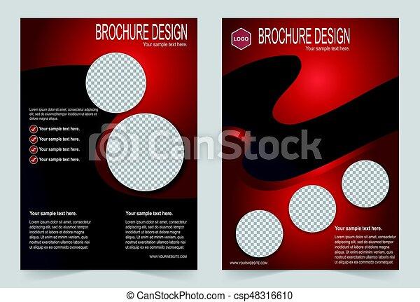 Brochure Template Flyer Design Red Color Template Vector Clip Art