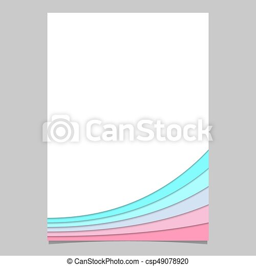 brochure template from curved stripe layers vector page graphic