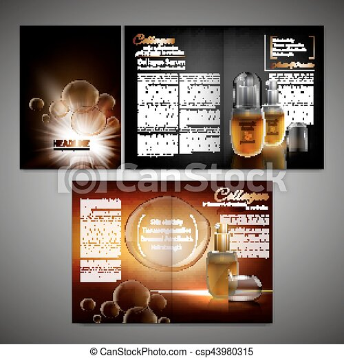 Brochure Template Image Vector Cosmetic Brochure Template