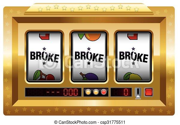 Broke Slot Machine Gold - csp31775511