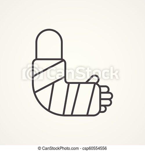 broken arm vector icon sign symbol - csp60554556