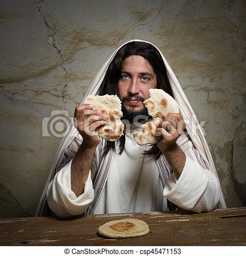 Jesus Breaking Bread Jesus Breaking Bread As A Symbol Of Communion