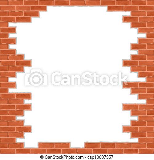 Broken Brick Wall Vector Eps10 Illustration