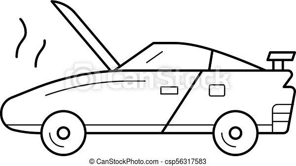 Broken car line icon. - csp56317583