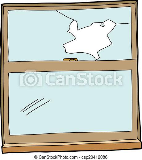 Broken Cartoon Window - csp20412086