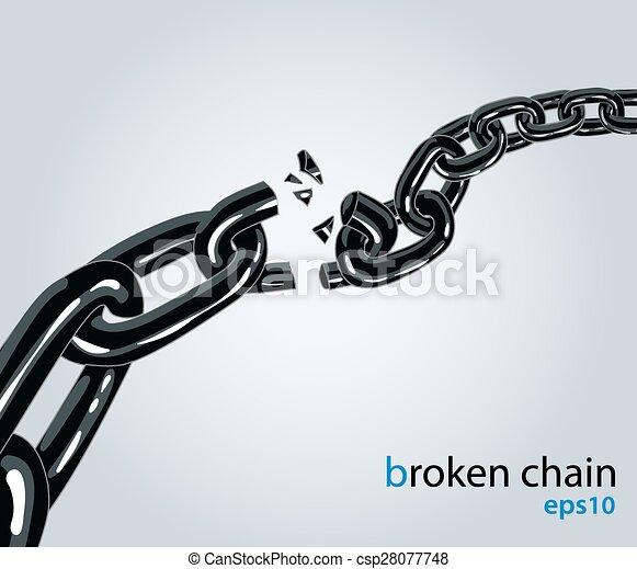 Broken chain - csp28077748