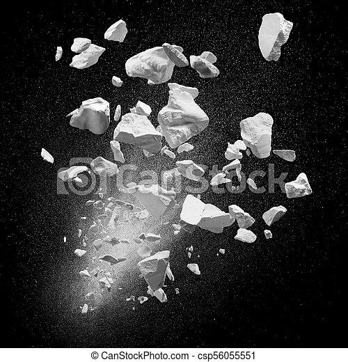 broken debris - csp56055551