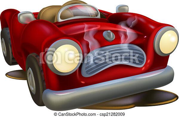 Broken down cartoon car - csp21282009