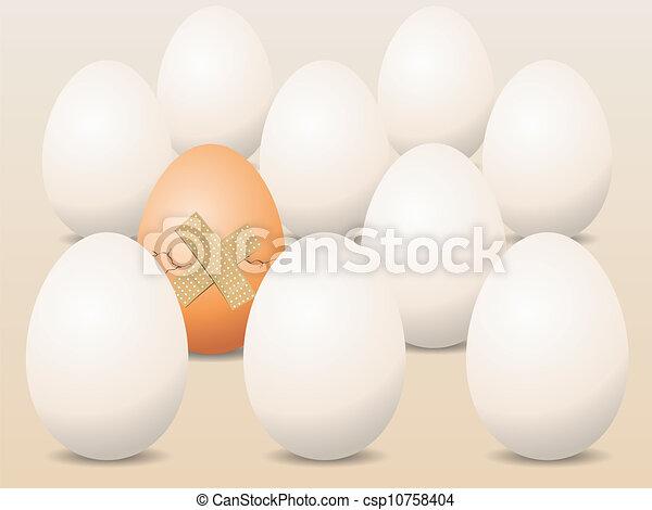 Broken Egg Concept Vector  - csp10758404