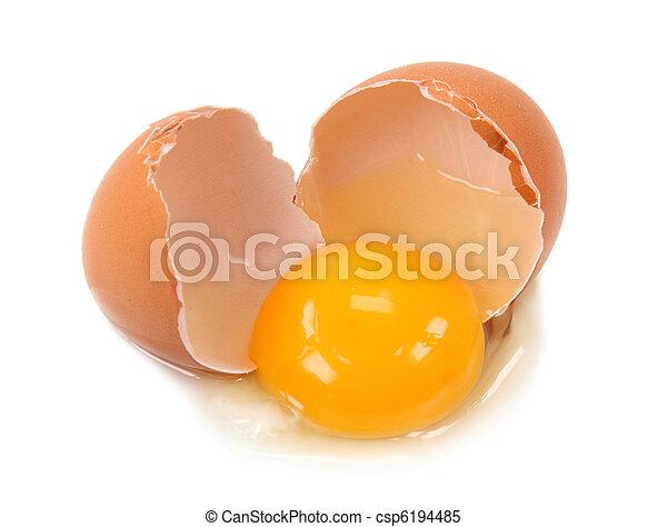 Broken egg - csp6194485