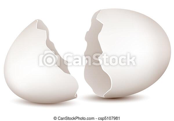 broken egg - csp5107981