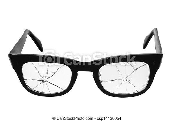 Broken Eyeglasses - csp14136054