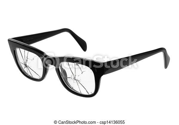Broken Eyeglasses - csp14136055