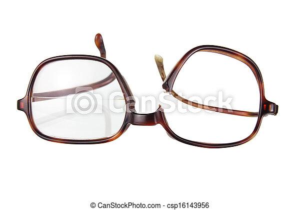 Broken Eyeglasses - csp16143956