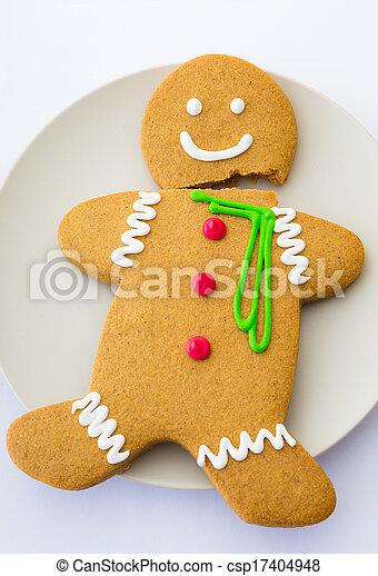 Broken Gingerbread cookie - csp17404948