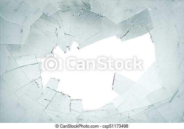 Broken glass and shards - csp51173498
